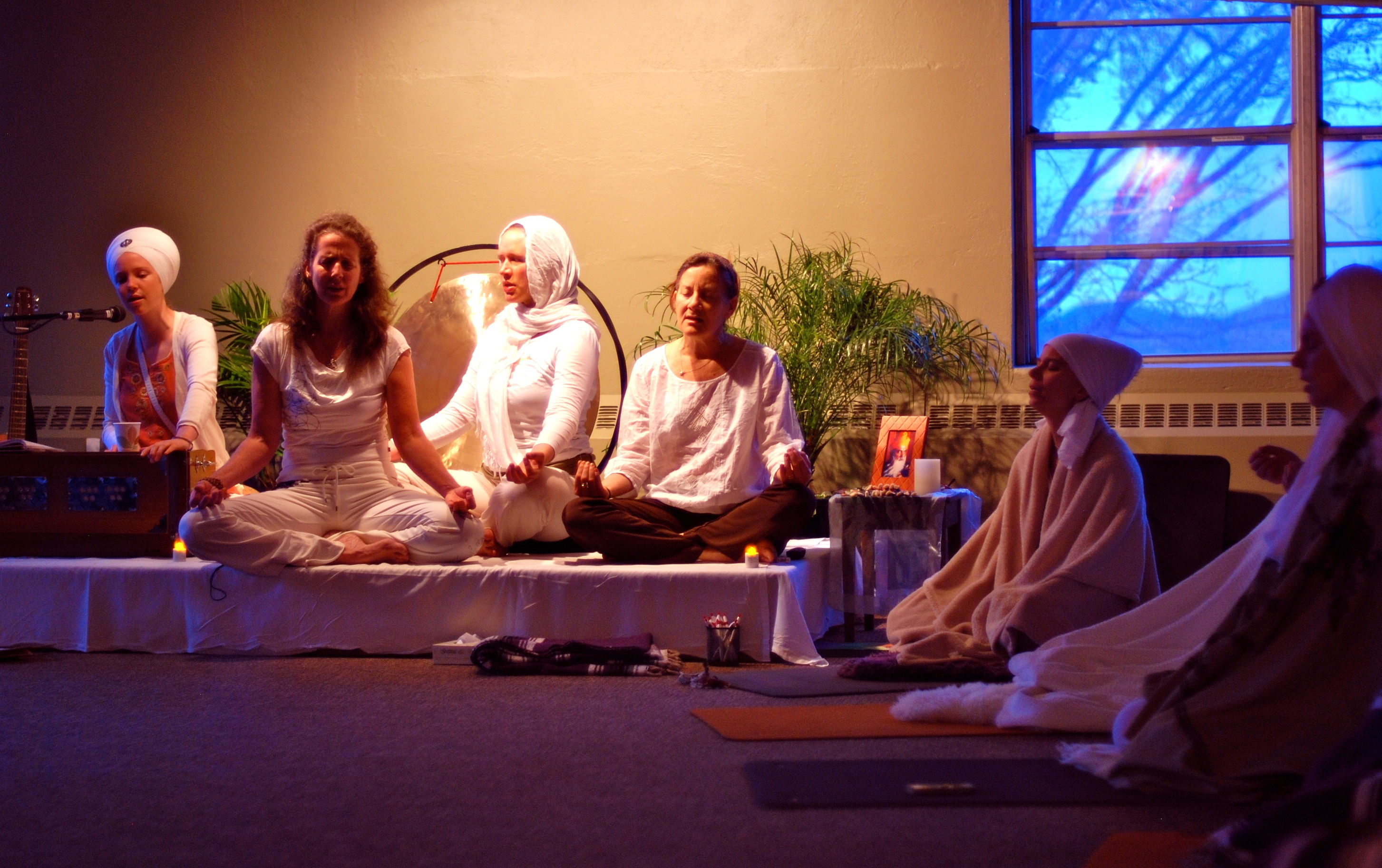 Morning Sadhana at Art & Yoga Teacher Training Kripalu Nov.2011